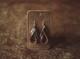Range Land Double Hoop Leather  Earrings