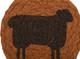Heritage Farms Sheep Jute Coaster Set of 6