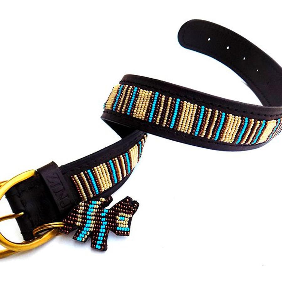 Blue Nile Dog Collar from Kenya