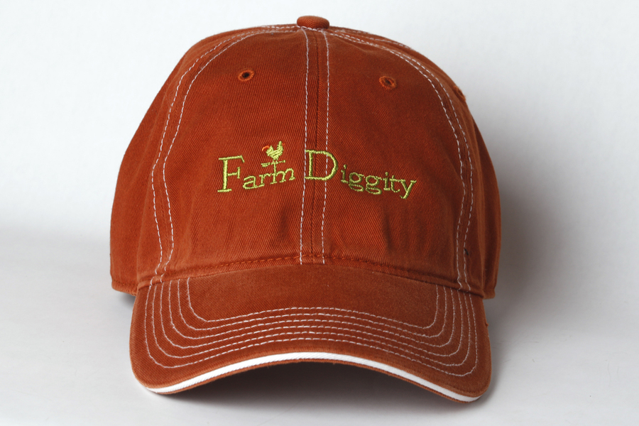 Farm Diggity Hat /Texas Orange & White