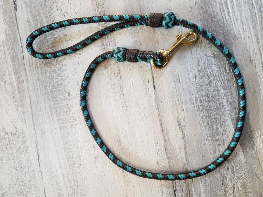 Lead/ 3ft Handbraided Kangaroo leather