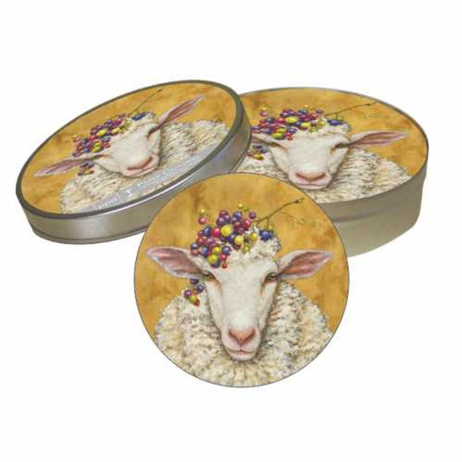 Vineyard Sheep Coaster Set/ Vicki Sawyer
