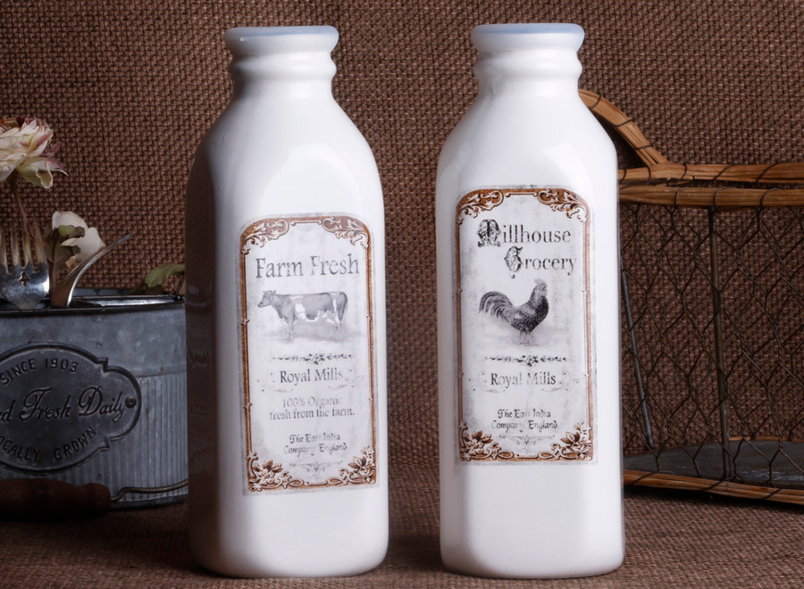 Milk Bottle / Rooster /Cow Decal