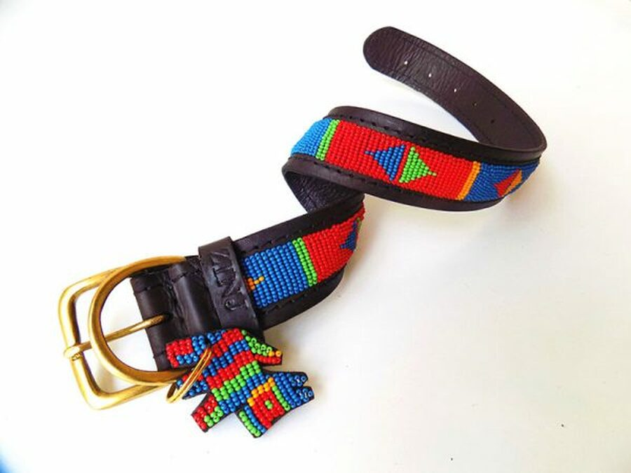 Pokot Red Dog Collar from Kenya