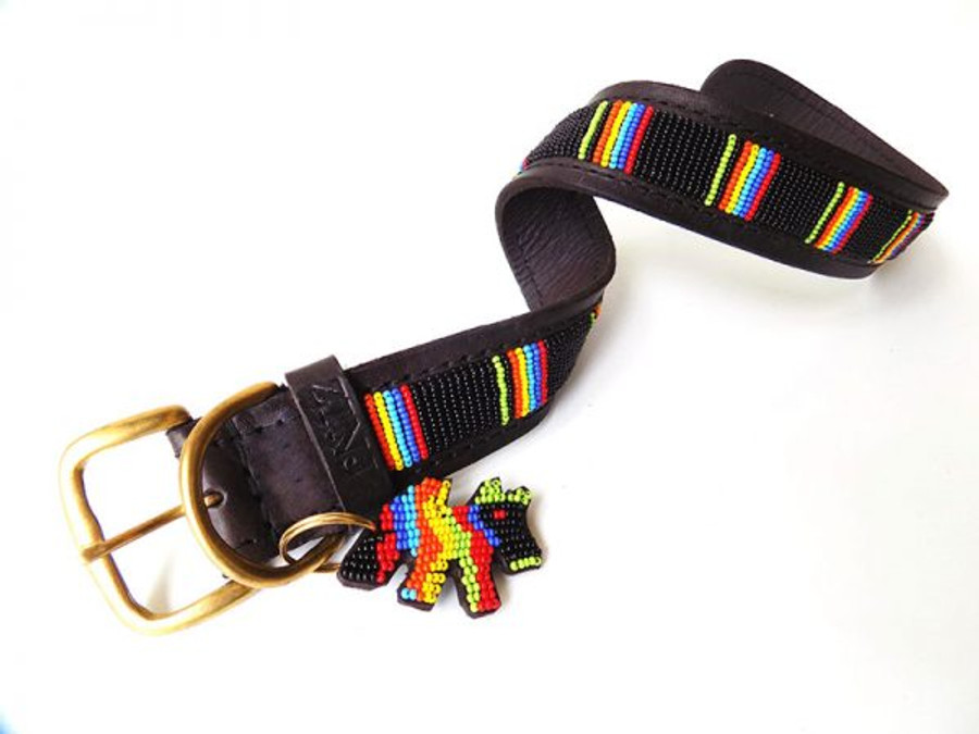 Giriama Black Dog Collar from Kenya