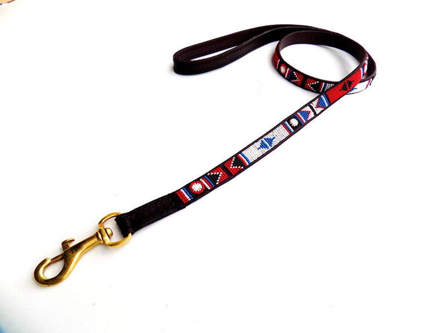"Akamba Leash from Kenya  48""long 3/4 wide"