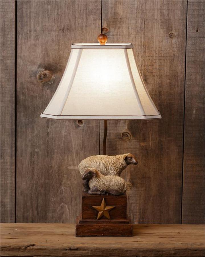 Lamp/ Primitive Sheep Star Lamp