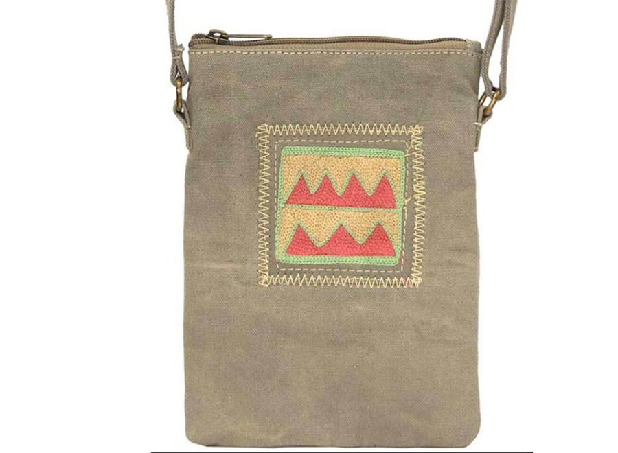 Canvas Crossbody Bag/ Desert Sand Coral / Vintage Addiction