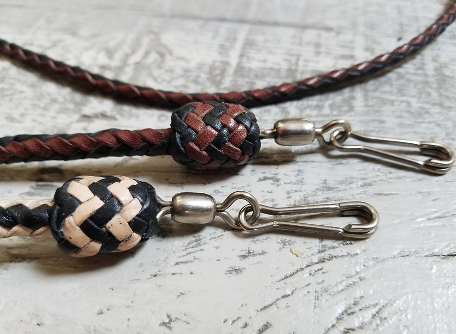 Leather Lanyard/ Hand -  Braided Kangaroo
