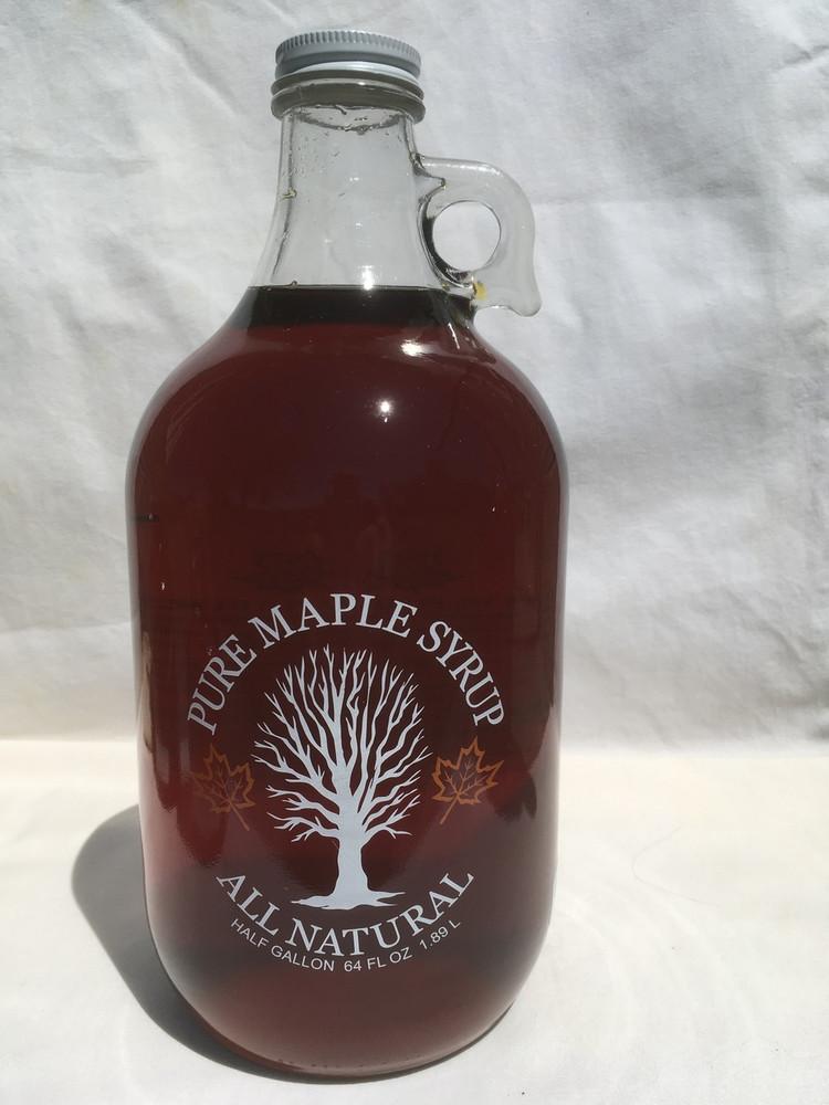 Maple Syrup Half Gallon Glass Jug