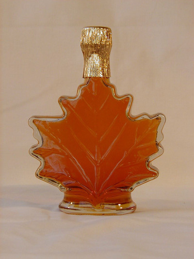 Maple Syrup 100 Ml Glass Leaf