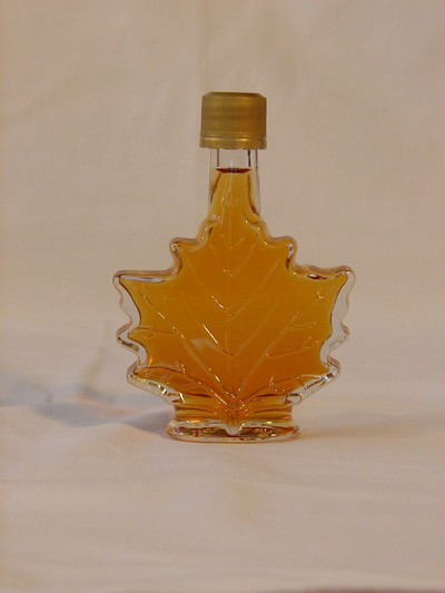 Maple Syrup 50 Ml Glass Leaf