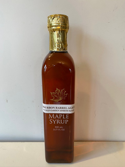 Bourbon Barrel Aged  Maple Syrup 500 mL