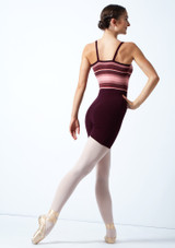 Move Dance Amara Striped Knit Dance Warm Up Suit Fig [[88]] Back-1 [Fig [[88]]]
