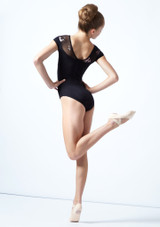 Move Dance Teen Margot Floral Sweetheart Leotard Black Back-1 [Black]