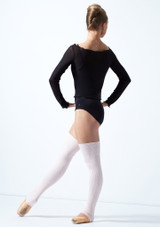 Move Dance Spirit Mesh Long Sleeve Crop Top Black Back-1 [Black]