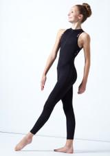 Move Dance Teen Jupiter Floral Sleeveless Catsuit Black Front-1 [Black]