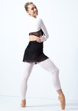 Move Dance Juliet Fine Knit Shrug Pink Back-1 [Pink]