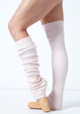 Move Dance Brisé Knit Ribbed Legwarmers Pink -1 [Pink]