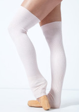 Move Dance Brisé Knit Ribbed Legwarmers Pink -2 [Pink]