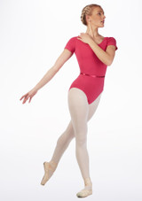 Move Dance Penny Leotard Pink front. [Pink]