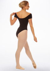 Grishko Boat Neck Leotard Black back. [Black]