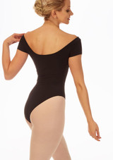 Grishko Boat Neck Leotard Black front. [Black]