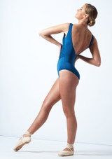 Ballet Rosa Open Back Embroidered Leotard Blue Back-1 [Blue]