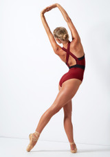 Move Dance Passion Zip Front Leotard Red back. [Red]