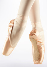 Capezio Contempora Pointe Shoe Pink back. [Pink]