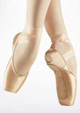 Capezio Cambre Tapered Pointe Shoe Pink side. [Pink]