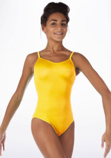 Alegra Shiny Cleo Leotard Yellow front #2. [Yellow]
