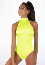 Alegra Shiny Nola Leotard Yellow front #2. [Yellow]