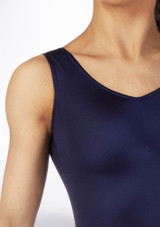 Alegra Shiny Nola Leotard Blue colour swatch. [Blue]