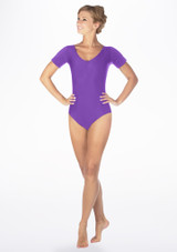 Alegra Shiny Melody Leotard Purple front #2. [Purple]
