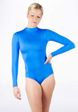 Alegra Shiny Ashlyn Leotard Blue front #2. [Blue]
