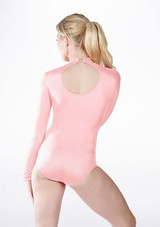 Alegra Shiny Ashlyn Leotard Pink back #3. [Pink]