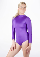 Alegra Shiny Ashlyn Leotard Purple front #2. [Purple]