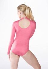 Alegra Shiny Ashlyn Leotard Pink back #2. [Pink]