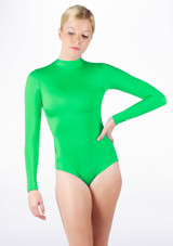 Alegra Shiny Ashlyn Leotard Green front #2. [Green]