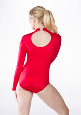 Alegra Shiny Ashlyn Leotard Red back. [Red]