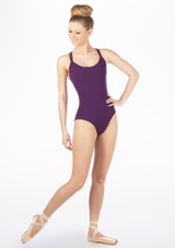 Move Brook Leotard NEW Black front. [Purple]