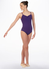 Move April Leotard Purple front. [Purple]