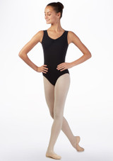 Move Lorette Teen Tank Leotard Black front. [Black]