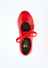 Tappers & Pointers Low Heel Tap Shoe Red #2. [Red]