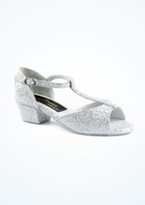 """Tappers & Pointers Chelsea Ballroom Shoe 1.2 Silver. [Silver]"""""""