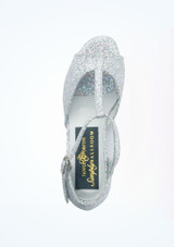 """Tappers & Pointers Chelsea Ballroom Shoe 1.2 Silver #2. [Silver]"""""""