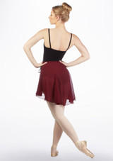 Capezio Full Sweep Wrap Dance Skirt Red back. [Red]