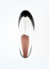 Bloch Charleston Tap Shoe Black-White top. [Black-White]