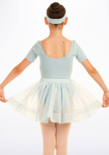 Tappers & Pointers Spotted Voile Dance Skirt Blue #2. [Blue]